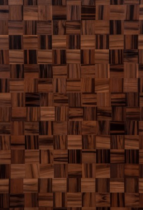 Smoked Satin Walnut Weaved Wood Veneer - polished - New Delhi, India